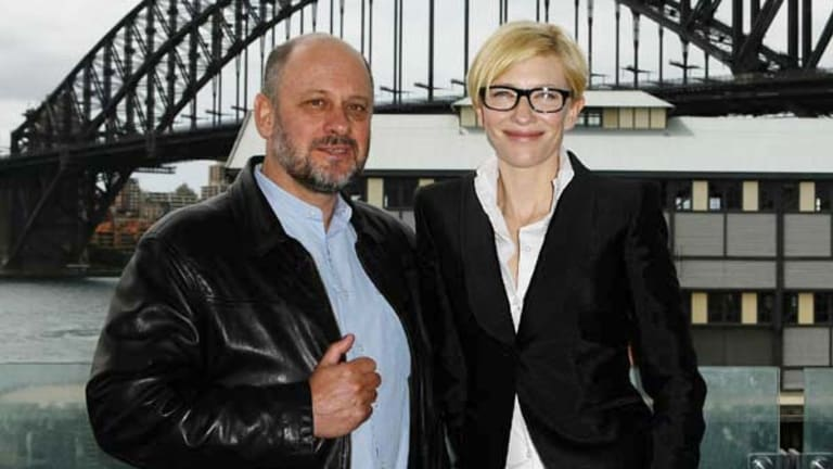 Actress Cate Blanchett and author Tim Flannery   at the launch of Tim Flannery's new book,  Here On Earth.