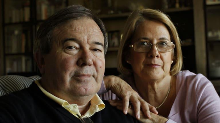 Prostate cancer survivor David Sandoe with his wife, Pam.