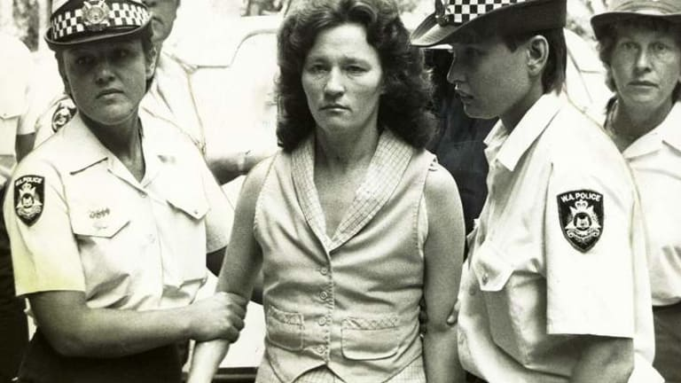 Serial killer Catherine Birnie in custody in 1985.