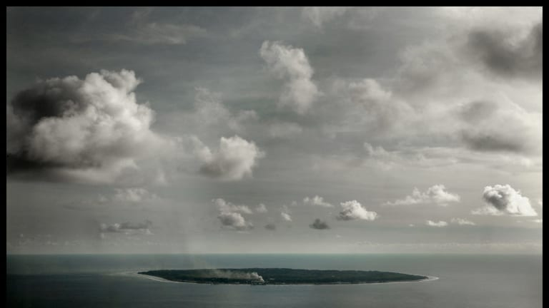 The tiny Pacific island of Nauru, which houses asylum-seekers who were bound for Australia.