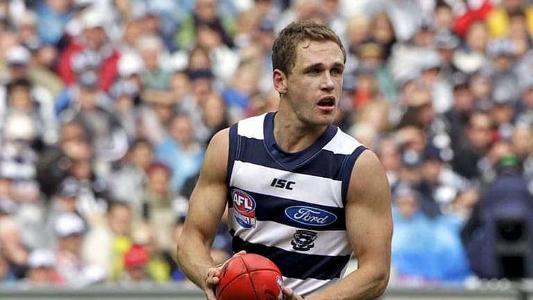 Whole package: Geelong skipper Joel Selwood.