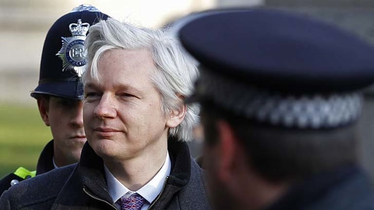 Julian Assange arriving at the Supreme Court in London in February  this year.