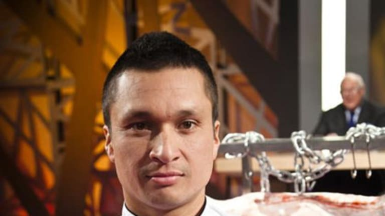 Perth chef Herb Faust has become the first challenger to take out the Iron Chef.