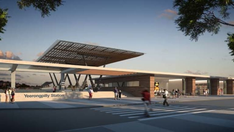 An artist's impression of the Yeerongpilly Station.
