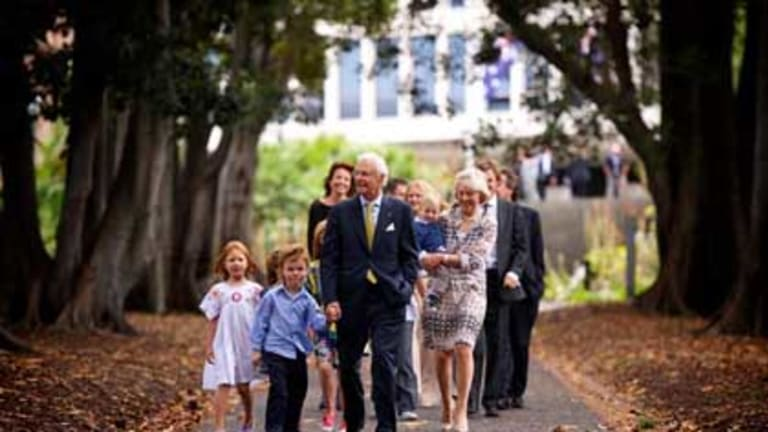 New Victorian Governor Alex Chernov with his family.