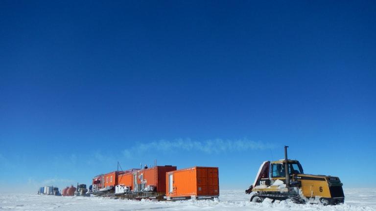 The convoy that traversed 1300 kilometres into Antarctica.