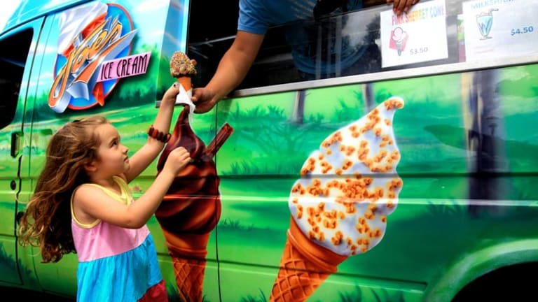 """White lies: One mother """"tells her kids that when the ice cream truck plays a song, that means they're out of ice cream."""" <i>Photo: Edwina Pickles.</i>"""