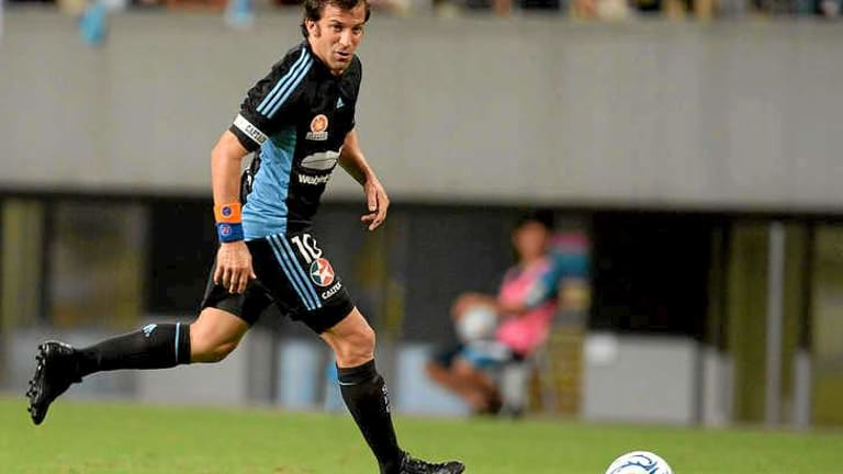 World star: Alessandro Del Piero playing for Sydney FC in Japan last month.