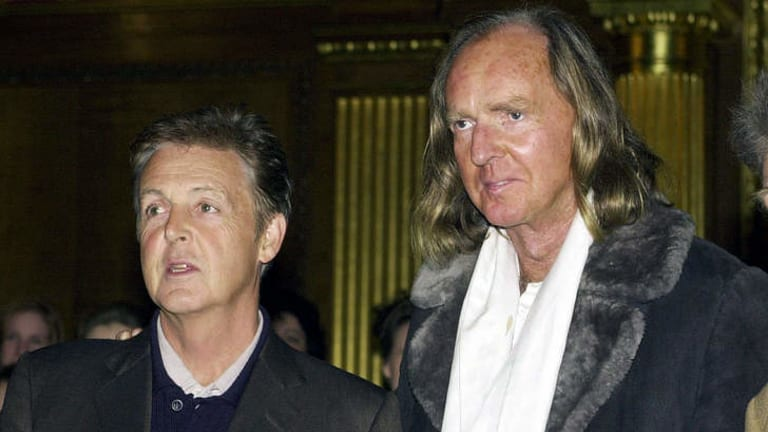 Striking: Sir John Tavener with  Sir Paul McCartney in 2011. In the late 1960s Tavener was famously signed to The Beatles' record label Apple.