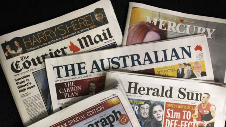 Investigation ... into allegations a News Ltd executive offered political favours.