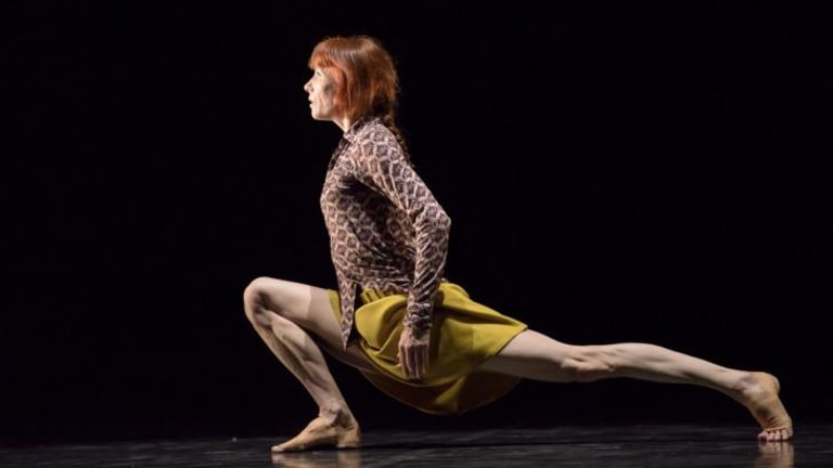 Sylvie Guillem in the solo dance work, Bye, by Mats Ek.