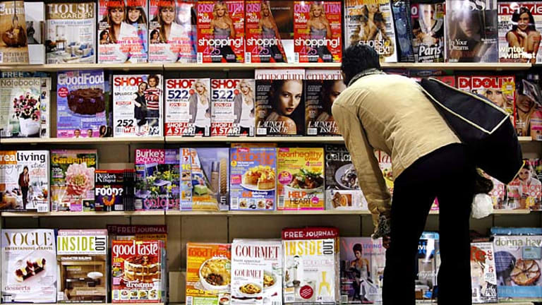 Covered: Magazines fill news-stands, but many are returned unsold.