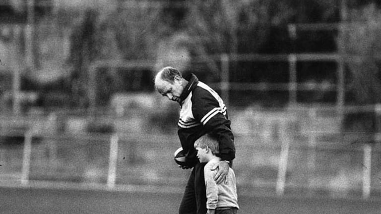 The mentor. At Glenferrie Oval during the Hawthorn years.
