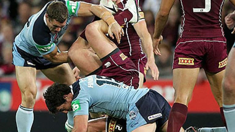 'I'm sure he didn't really mean it' ... Darius Boyd refuses to blame Luke O'Donnell for his dangerous spear tackle.