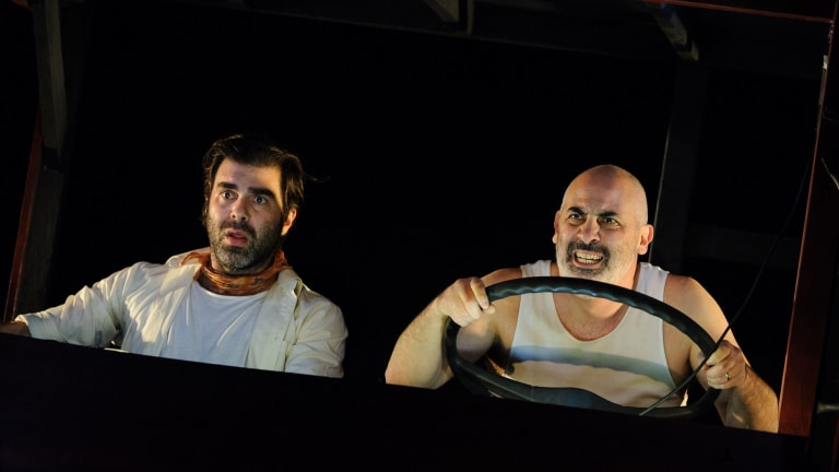 A hefty reward lures shady characters including Johnny (Ange Arabatzis) and Gerard (Greg Ulfan) on a dystopian road trip.