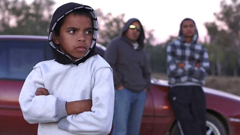 Little wannabe ''gansta'' … Daniel Connors as the vulnerable child struggling to find his identity.