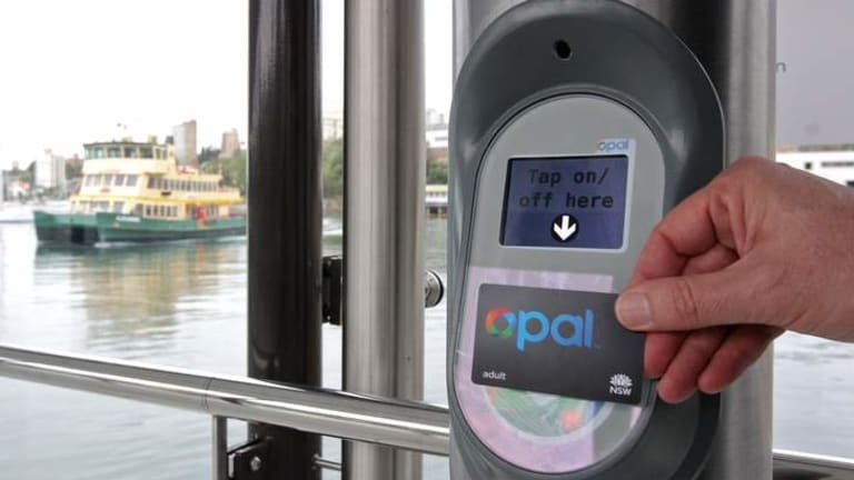 On tap ... the Opal card, which went into service on Friday.