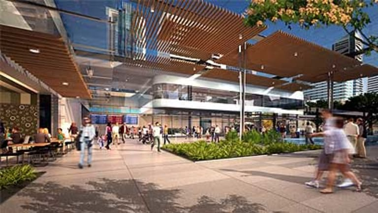 A street-level view of the proposed Albert Street Station.
