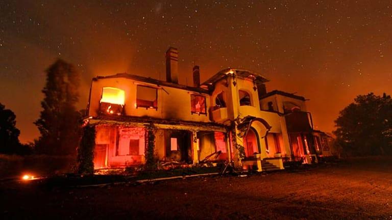 Carngham Station, destroyed in the fires.
