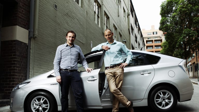 David Rohrsheim (left), Uber general manager for Australia and New Zealand.