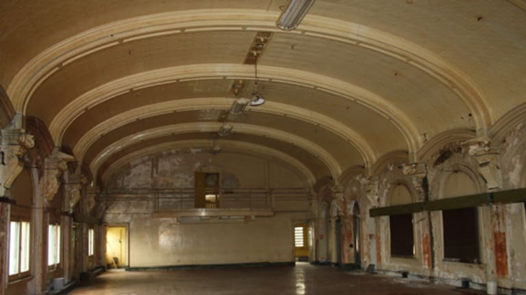 Days gone by ... the abandoned ballroom at Flinder Street Station