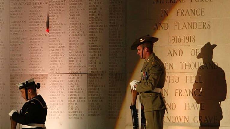 "Poignant words: ""Lest we forget."""
