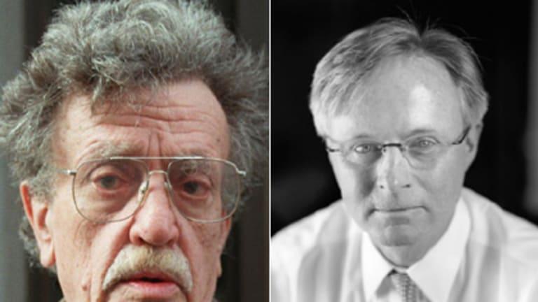 Legend lives on ... Kurt, left, and Norb Vonnegut.