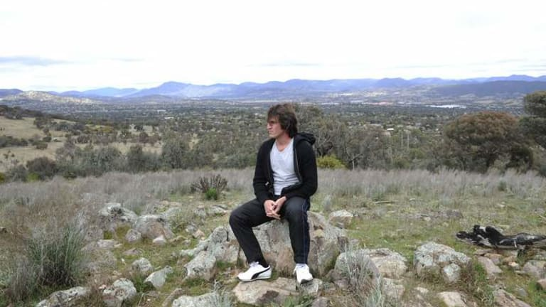 Iman Shirinia on Farrer Ridge.