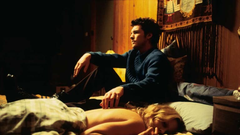 Early days ... with co-star Sam Worthington in Somersault.