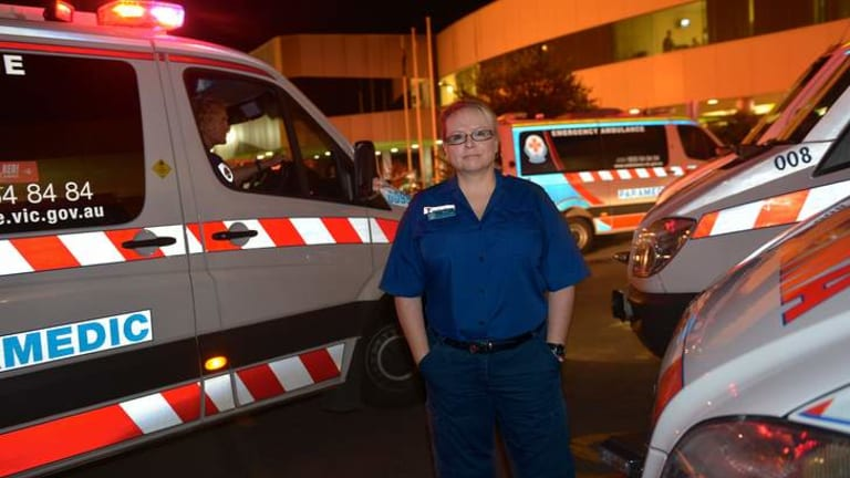 Whistleblower: Paramedic Samantha Roberts, at Frankston Hospital, has been asked to keep her ambulance logged on at the end of shifts when there was no one taking over.