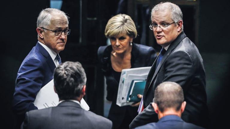 Malcolm Turnbull, Scott Morrison and Julie Bishop.