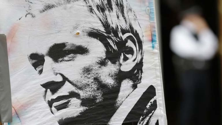 Poster boy... Julian Assange is the party's star candidate.