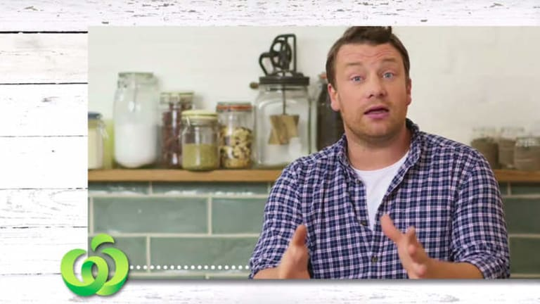 Weighing in: Jamie Oliver speaks in support of vegetable growers.