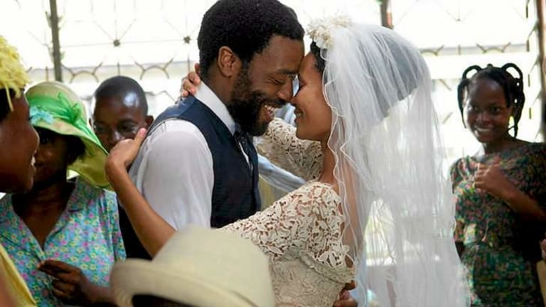 Chiwetel Ejiofor and Thandie Newton in Biyi Bandele's Nigeria-set film <i>Half of a Yellow Sun</i>.