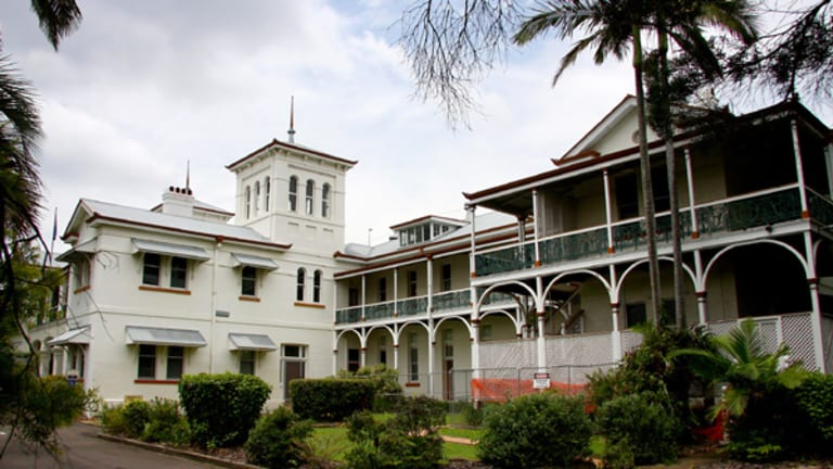 The historic Yungaba building at Kangaroo Point.