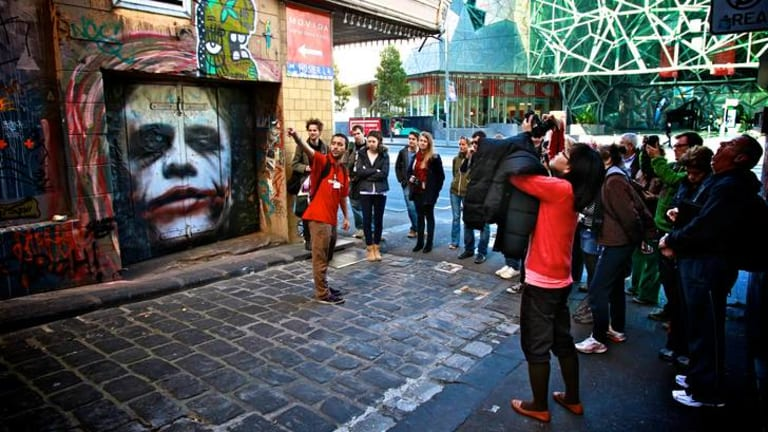 Melbourne City Council  is considering installing security cameras in Hosier Lane.