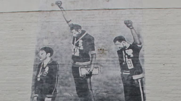 Protest ... the mural in Leamington Lane, Newtown.
