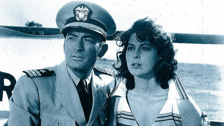 Gregory Peck and Ava Gardner in <i>On The Beach</i>.