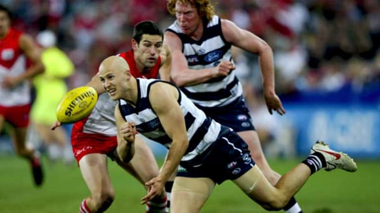 Great expectations ... Gary Ablett has worked hard to emerge from the shadow of his legendary father and become a superstar in his own right at Geelong.