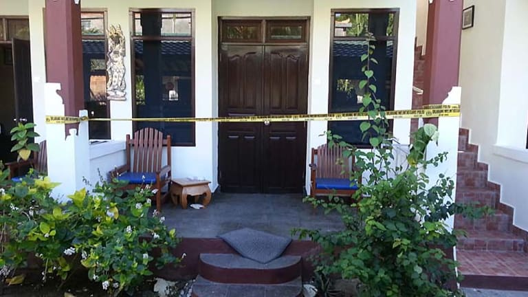 The sealed room at Padang Bai beach resort, Bali, where Noelene and Yvana were staying before their deaths.