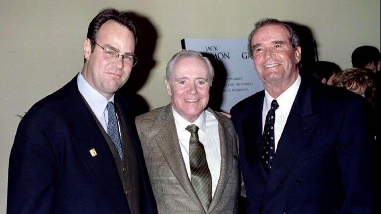 Stars of the new comedy film My Fellow Americans, from left, Dan Aykroyd, Jack Lemmon and James Garner.