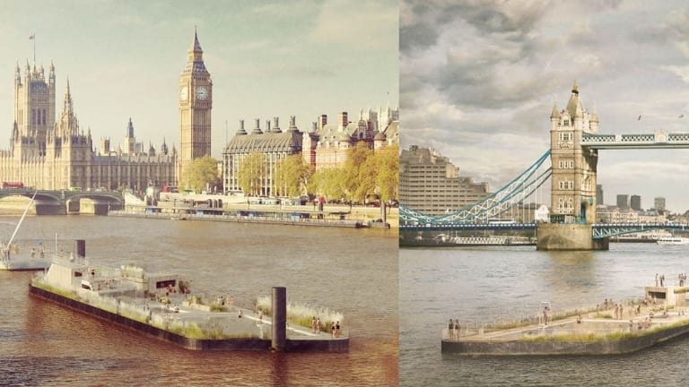 A similar proposal for a swimming pool for the Thames in London.