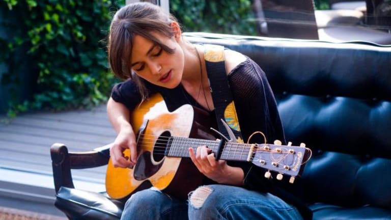 """""""She ended up having a sweet little voice, but she wasn't meant to be a Judy Garland"""": John Carney on Keira Knightley."""