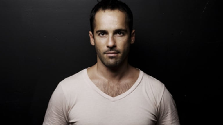 On board ... Alex Dimitriades.