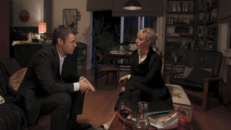 Games people play: Rodger Corser and Asher Keddie play two dynamic, but different characters, in <i>Party Tricks</i>.