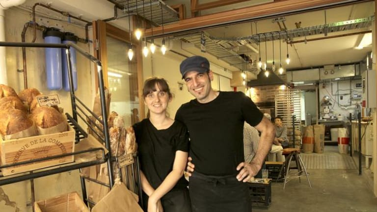 Artisan style ... Organic Bread Bar baker Andreas Rost with business partner Kim Orden.