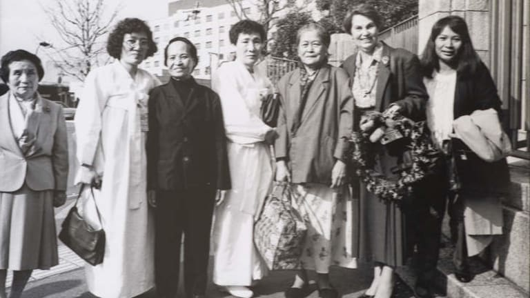 Jan Ruff-O'Herne and the Korean comfort women visiting Japan circa 1993.