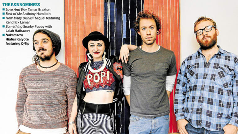 Melbourne soul band Hiatus Kaiyote has been nominated for a Grammy award.