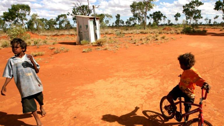 Indigenous children in the Utopia indigenous homeland 200 kilometres north of Alice Springs.
