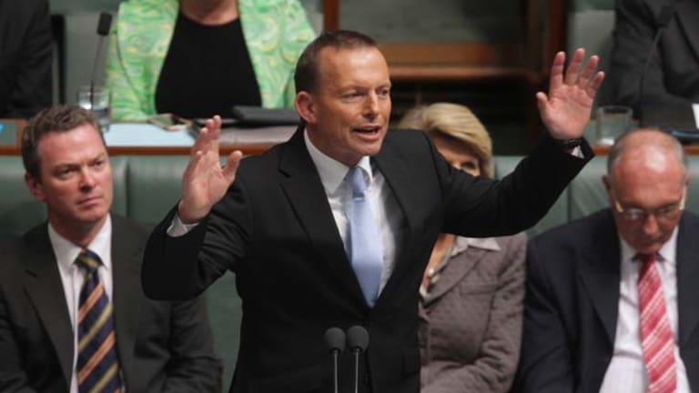 Tony Abbott's approval fell 2 percentage points to 41 per cent and his disapproval rose 2 points to 54 per cent.